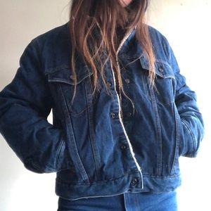 Vintage Denim Sherpa Lined denim Jacket